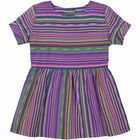 Rio Negra Smock Dress - Multi Coloured Stripe