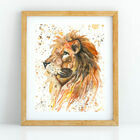 Lion Watercolour Art Print (A4)
