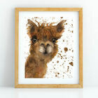 Alpaca Watercolour Art Print (A4)