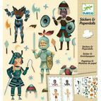 Djeco Stickers & Paper Dolls - Knights