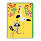 Nineteen Seventy Three Croquet Greeting Card by Marc Boutavant