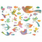 Djeco Wall Stickers - Bling Bling Birds