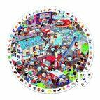 Janod Round Observation 208 Piece Jigsaw Puzzle - Firemen