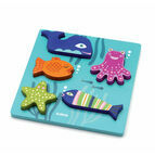 Djeco Sea Animals Wooden Relief / lift out Puzzle