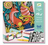 Djeco 3D Colouring Art Set - Fantasy Forest