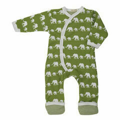 Pigeon Organics Elephant Silhouette All in One – Green