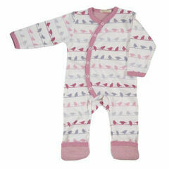 Pigeon Organics Bird Silhouette All in One - Pink Multi