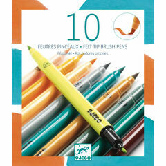 Djeco 10 Double Ended Felt Tip Pens - Nature Colours