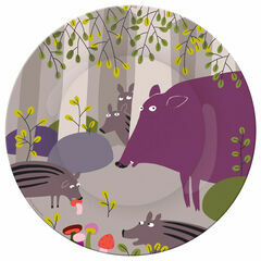 Petit Jour Paris Forest Side Plate - Wild Pigs