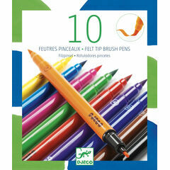 Djeco 10 Double Ended Felt Tip Pens - Classic Colours