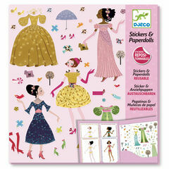Djeco Seasonal Dress Up Stickers & Paper Dolls