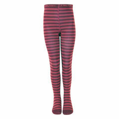Melton Stripe Tights - Dark Burgundy