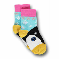 Ubang Babblechat Penguin Short Socks - Light Blue
