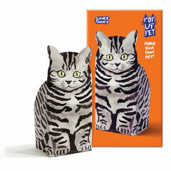 Rosie Flo Pop-Up Pet - Silver Tabby