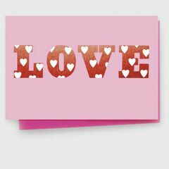 Dandy Star Greeting Card - Love on Pink