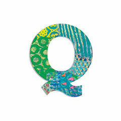 Djeco Wooden Letter Q - Peacock