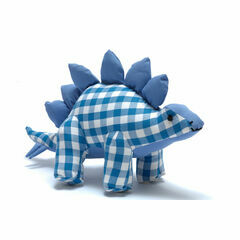 Best Years Natural Zoo Cotton Stegosaurus - Blue Gingham