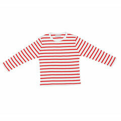 Bob & Blossom Breton Stripe T-Shirt - Red & White