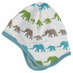 Pigeon Organics Elephant Baby Hat - Multi Colour Blue