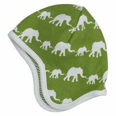 Pigeon Organics Elephant Baby Hat - Single Colour Green