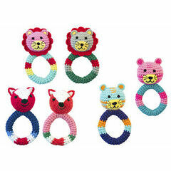 Global Affairs  Crochet Cotton Animal Ring Rattle
