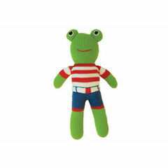 Global Affairs  Knitted Frog Soft Toy - Fred Frogger