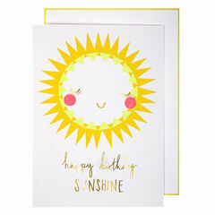 Meri Meri Happy Birthday Sunshine Greeting Card