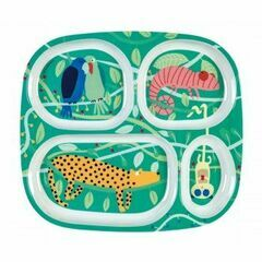 Petit Jour 4 Compartment Serving Tray - Jungle