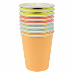 Meri Meri Neon Multi Coloured Party Cups
