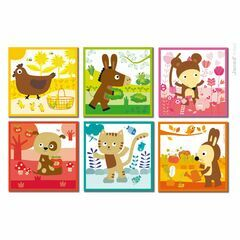 Janod Kubkid 9 Piece Block Puzzle - Colour