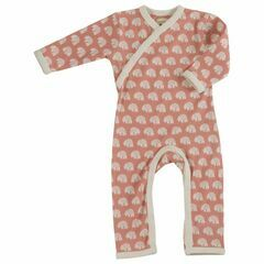 Pigeon Organic All-in-One/Sleepsuit - Pink Polar Bear