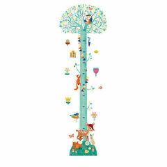 Djeco Removable Wall Stickers Height Chart - Springtime