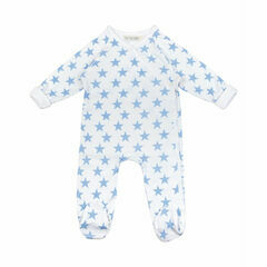 Renuka Baby Footed Wrap Growsuit - Blue Stars