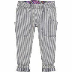 Carlos Slim Fit Jeans - Blue Denin Stripe