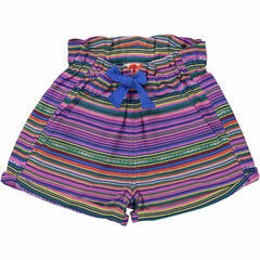 Manatee Comfy Shorts - Multi Coloured Stripe