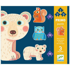 Djeco Primo In the Forest Jigsaw Puzzles - Set of 3