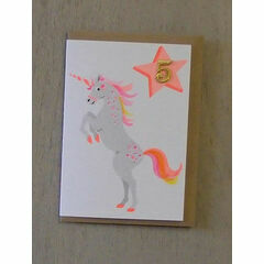 Unicorn Confetti Pet Birthday Card - Ages 1-5yrs