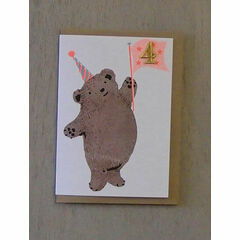 Bear Confetti Pet birthday Card - Ages 1-5 yrs