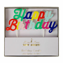 Happy Birthday Candle - Multi Coloured