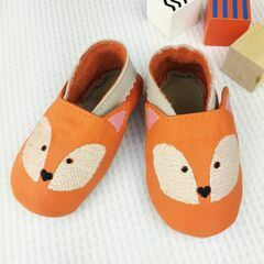 Born Bespoke Leather Baby Shoes - Fox
