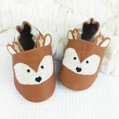 Born Bespoke Leather Baby Shoes - Deer