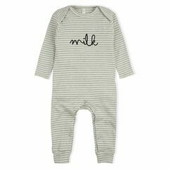 Milk Playsuit / All in one - Grey Stripes