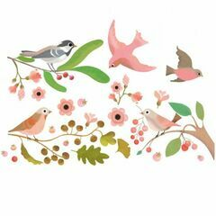 Djeco Romantic Birds Window Stickers