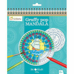 Avenue Mandarine Graffy Pop Mandala - Blue