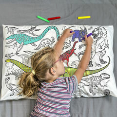 Eggnogg Colour In Pillowcase - Dinosaurs