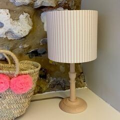 Molly & Lola Pink & White Stripe Lampshade - Table Lampshade (20cm)