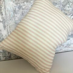 Molly & Lola Pink & White Stripe Mini Cushion (25cm)