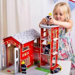 Bigjigs Toys Wooden City Fire Station