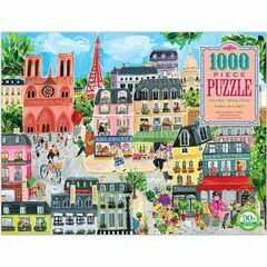 eeBoo Paris in a Day Jigsaw Puzzle