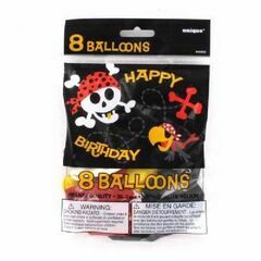 Pirate Fun Latex Balloons (Pack of 8)